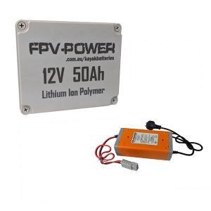 FPV Power 50Ah Battery and Charger Combo
