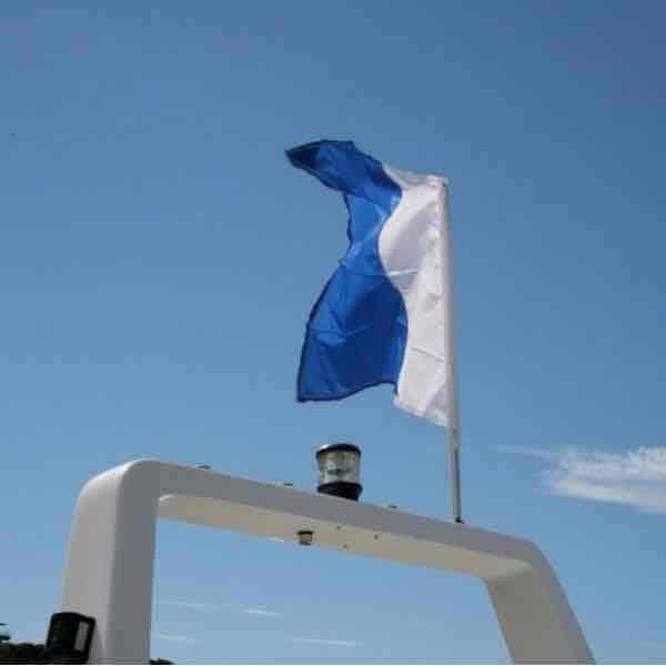 Railblaza Flag Pole 800Mm White Mount