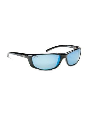 CABO - SHINY BLACK GREY W. COBALT BLUE MIRROR LENS