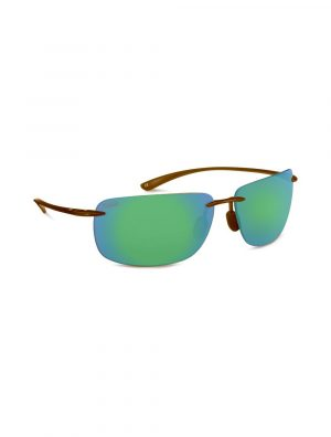 RIPS - SHINY CRYSTAL BROWN COPPER W. SEA GREEN MIRROR LENS