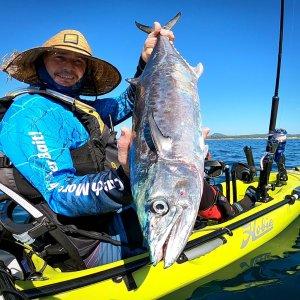 Massive Spanish Mackerel Caught On Hobie Kayak