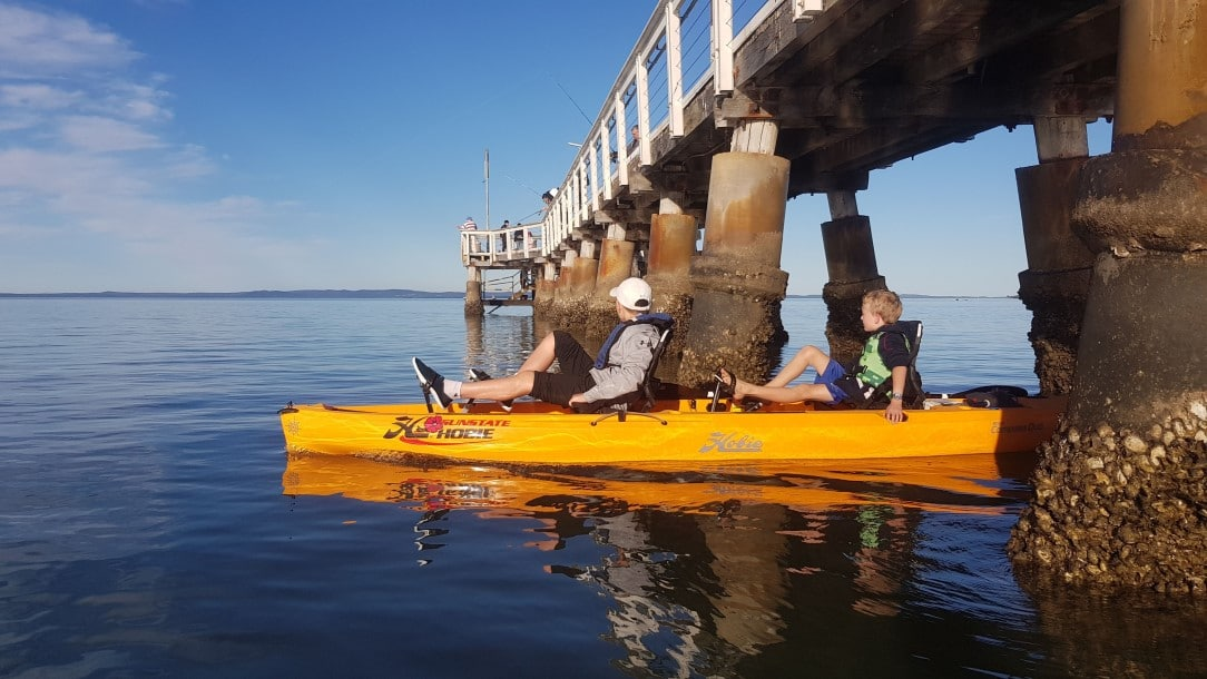 Kayak under the Pier at Wellington Point
