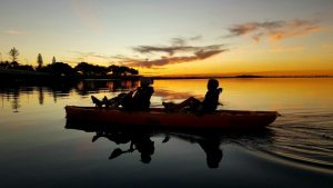 Sunset Kayaking, A Little Family Time With My Son And A Friend Kayaking