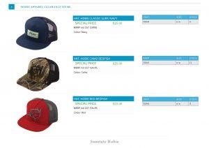 Hobie Caps Special Pricing