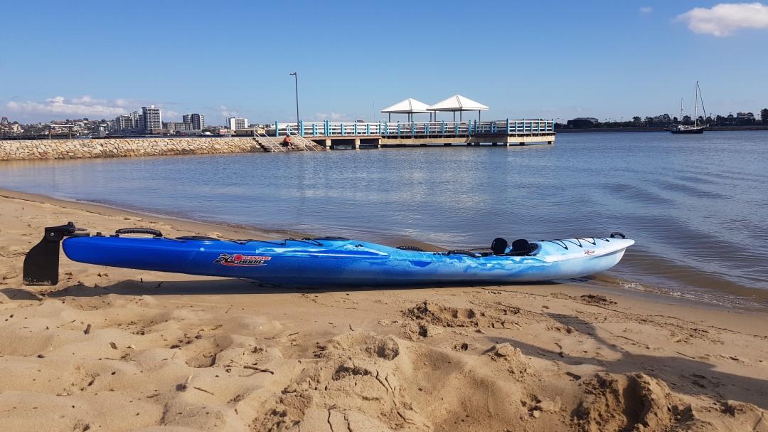The Koastal Kayak ENDURO XTR LITE on the beach