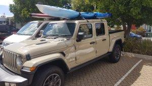 The Koastal Kayak Enduro Xtr Lite On The Roof Of A Jeep