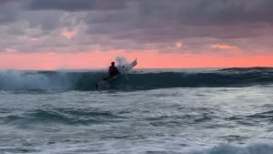 Punching Out Through The Surf On A Hobie Kayak