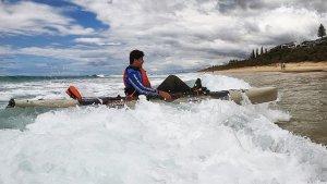 Surfing A Hobie Kayak