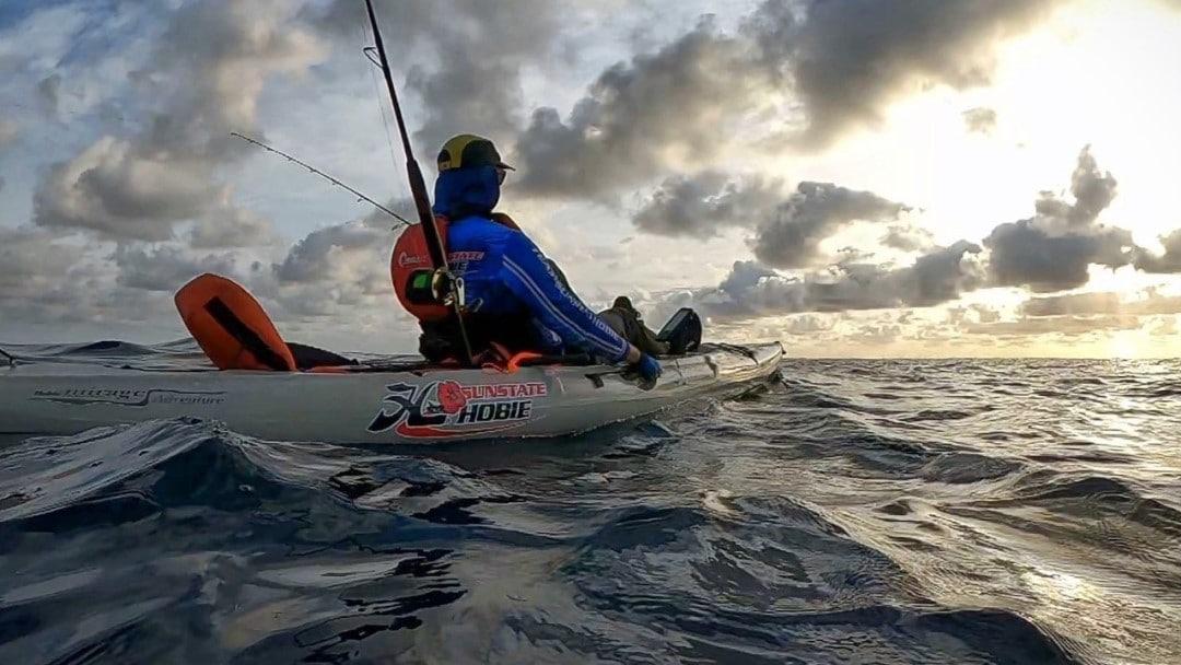Offshore on a Hobie kayak