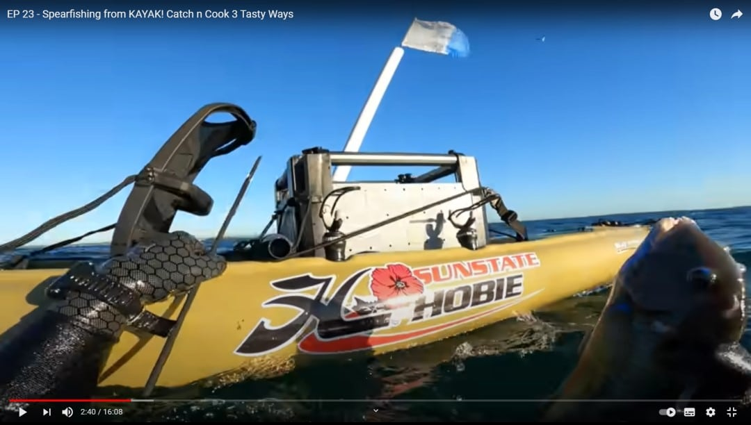 Spearfishing from a kayak
